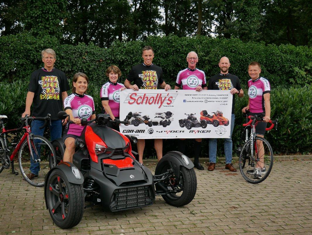 Team Scholly's Motorrad GmbH unterstützt den Ride 4 Help 2019